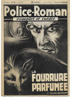 "Police-Roman N°62 Du 30.06.1939 ""La Fourrure Parfumée""  Roger DESSORT (S.P.E) Simenon - Simenon"