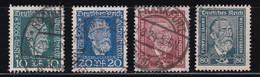 ALEMANIA IMPERIO 1924 -  Serie Completa Usada Yvert Nº 359/362 - Gebruikt