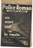 """Police-Roman N°65 Du 21.07.1939 """"Un Mort Sur La Route""""  Magda CONTINO  (S.P.E) Simenon - Simenon"""