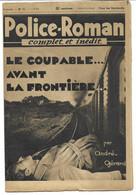"""Police-Roman N°71 Du 01.09.1939 """"Le Coupable... Avant La Frontière""""  André GERARD  (S.P.E) Simenon - Simenon"""