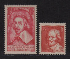 Richelieu - Callot - N°305 + 306 - ** Neufs Sans Charniere - Cote 112€ - Ungebraucht