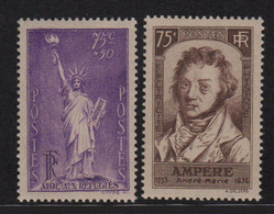 Statue De La Liberte - Ampere - N°309 + 310 - ** Neufs Sans Charniere - Cote 70€ - Ungebraucht