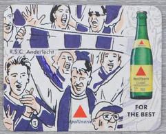 Sous-bock Apollinaris Football Supporters Fans RSC Anderlecht RSCA Bierviltje Bierdeckel Coaster (CX) - Portavasos