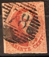OBP 12 Afstempeling P78 MECHELEN - Diepe Kleur - 1858-1862 Medallones (9/12)