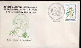 Argentina - 1990 - Cachet Spécial - Torneo Magistral Internacional 80º Miguel Najdorf - Échecs - A1RR2 - Scacchi