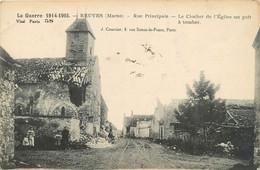 CPA Reuves-Rue Principale-Le Clocher De L'église Est Prêt à Tomber      L206 - Other Municipalities