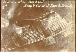 VUE AERIENNE FRANCAISE - BARAQUEMENT DE St PIERRE LA TREICHE PRES DE NANCY MEURTHE ET MOSELLE  - GUERRE 1914 1918 - 1914-18