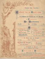 Programme 1888 - Oeuvre Des Loyers Du Caritas - XVII ème Arrondissement - Paris - Zonder Classificatie