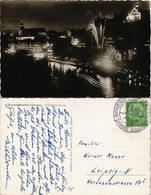 Tübingen Panorama-Ansicht Am Abend, Nacht, Stadt-Beleuchtung 1957 - Tuebingen