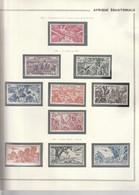 AEF Poste Aerienne 1946/47 N°43 à 52 Neuf* - Neufs