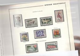 AEF 1957/58 N°237 à 244 Neuf* Et Obl - Unused Stamps