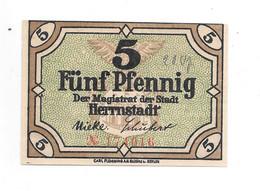 Notgeld Herrnstadt 5 Pfennig 1920  Km H31.1 - [11] Emissioni Locali