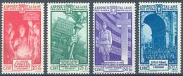 ITALIA - 1935 - MNH/**  - PRO OPERA  - Yv 360 363  Sa S. 79 380 383 - Lot 23122 - 20C + 10C GRATIS - Mint/hinged
