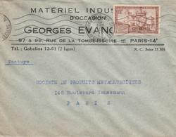 Lettre En-tête : Matériel Industriel D'occasion Goerges Evange Paris 9 - 1921-1960: Periodo Moderno