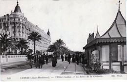 CANNES ( 06 )  L'HÔTEL  CARLTON  ET  LES  BAINS  DE  LA  CROISETTE  - CPA  ( 21 / 1 / 99  ) - Cannes