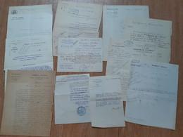 Lot De 12 Documents Concernant Des Médecins Et Hôpitaux Parisiens Fin 19e-début 20e - Historical Documents