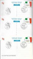 3 Cartoline Postali 1998 GIORNATA OLIMPICA, AS_Milano Fiera - Postwaardestukken