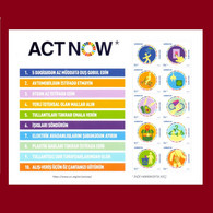 UNITED NATIONS ACT NOW ACTNOW CAMPAIGN Azerbaijan Stamps 2020 Azermarka - Nuevos