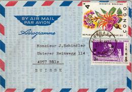 1971 REP. DEMOCRÁTICA DEL CONGO , AEROGRAMA CIRCULADO , APOLLO XI , ESPACIO , ASTROFILATELIA - Unclassified