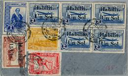 1937 PERÚ , SOBRE CIRCULADO , LIMA - HAMBURGO , VIA LUFTHANSA - Perù
