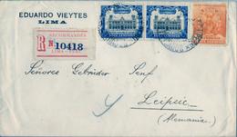 1935 PERÚ , SOBRE CERTIFICADO ENTRE LIMA Y LEIPZIG - Peru