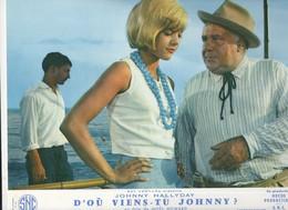 (cinéma)  Photo D'exploitation D'OU VIENS TU JOHNNY , (avec Johnny Hallyday Et Sylvie Vartan) Photo D'époque (CAT2235H) - Unclassified