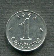 1 CENTIME 1963 - A. 1 Centesimo