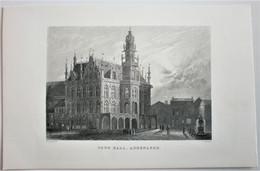 OUDENAARDE: Town Hall Audenarde: Originele 19e Eeuwse Staalgravure - Stampe & Incisioni