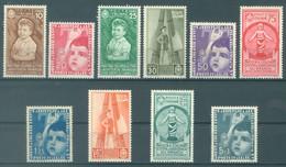 ITALIA - 1937 - MNH/** - INFANZIA - Yv 386 395 Mi 560-569 Sa S. 87 406-415 - Lot 23127 -  75c IS MVLH/* - Mint/hinged