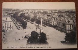 Nantes  Le Cours St André Et La Place Louis XVI - Nantes
