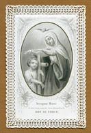 """IMAGE RELIGIEUSE : COMMUNION (dentelle) - """" MARIE - DON DE FORCE """" - Images Religieuses"""