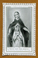 "IMAGE RELIGIEUSE : COMMUNION (dentelle) - "" MARIE SERA MON MODELE "" - Images Religieuses"