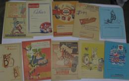 LOT De 10 Protèges Cahiers Différents (2) - Coberturas De Libros
