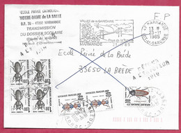 Taxe-Enveloppe De Marmande Lot Et Garonne Pour La Brède Gironde - 1960-.... Covers & Documents