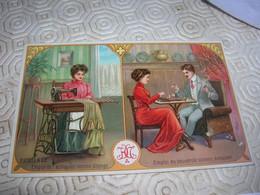 Cpa Vers 1920 Pub Machine A Coudre Excella Haid Et Neu Avec Un Echiquier Couple Jouant Aux Echecs TTB TOP Splendide - Scacchi