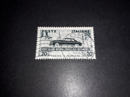 """AREG04 REPUBBLICA ITALIANA 1951 33'' SALONE DELL'AUTOMOBILE """"O"""" - 1946-60: Usados"""