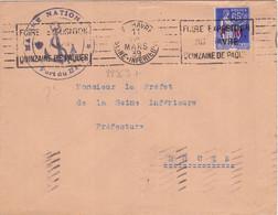22363# FRANCHISE MILITAIRE N° 8 PAIX SEUL LETTRE MARINE NATIONALE PORT DU HAVRE LE HAVRE SEINE INFERIEURE 1939 MARITIME - 1921-1960: Periodo Moderno