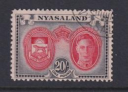 Nyasaland: 1945   KGVI - Pictorial     SG157    20/-    Used - Nyasaland (1907-1953)