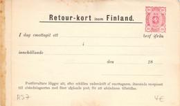 Finland Russia Postal Stationery Return Receipt 10 Pen Unused (320) - Entiers Postaux