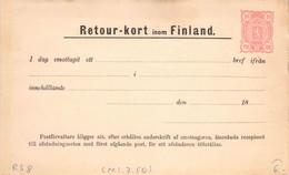 Finland Russia Postal Stationery Return Receipt 10 Pen Unused (321) - Entiers Postaux