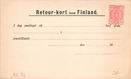 Finland Russia Postal Stationery Return Receipt 10 Pen Unused (322) - Entiers Postaux