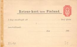 Finland Russia Postal Stationery Return Receipt 10 Pen Unused (323) - Entiers Postaux