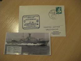 S73 Hermelin Ermine RENDSBURG 1981 K 143 A Schnellbootgeschwader Speedboat Squadron Navy Cover GERMANY Militar War Ship - Militaria