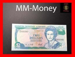 BERMUDA  2 $  29.2.1996  P. 40 A   Low Serial  000380   UNC - Bermudas