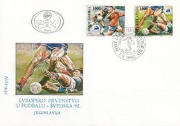 YUGOSLAVIA FDC 2542-2543,football - Covers & Documents