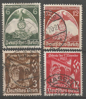 Germany Reich 1935 Year , Used Stamps Mi # 586-87, 598-9 - Used Stamps