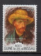 VINCENT VAN GOGH. Auto Portrait With Straw Hat And A Pipe -  (Guinea Bissau 2015) MNH (2W0159) - Non Classificati