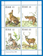 IRELAND 1980 Mint Block MNH(**) Wild Animals - Hojas Y Bloques