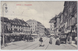 GRAZ - HAUPTPLATZ , Austria , Old Postcard , Travelled - Graz