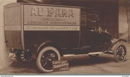 """Liège-Camion Du Magasin """"Au PAra"""" Situés Rue Cathédrale Et Place Du Roi Albert-Publicité Pour Une Carrosserie De Jupille - Automobili"""